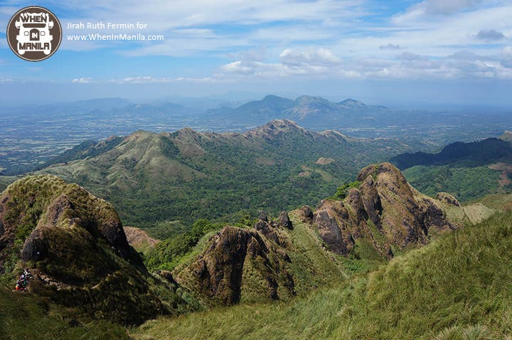 View from the top. We conquered Mount Batulao!