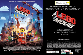 The Lego Movie Block Screening