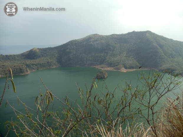 Crater Lake with Taal Lake in the distance.