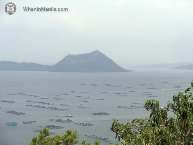 A view of Volcano Island on the road from Tagaytay to Talisay.
