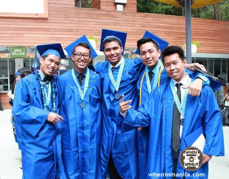 young boys on their graduation day