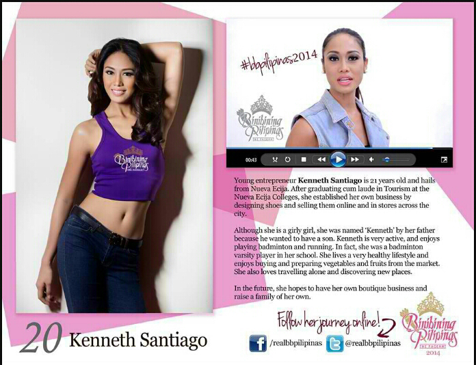 Kenneth Santiago: the binibini who will give up her shoe for the corwn.