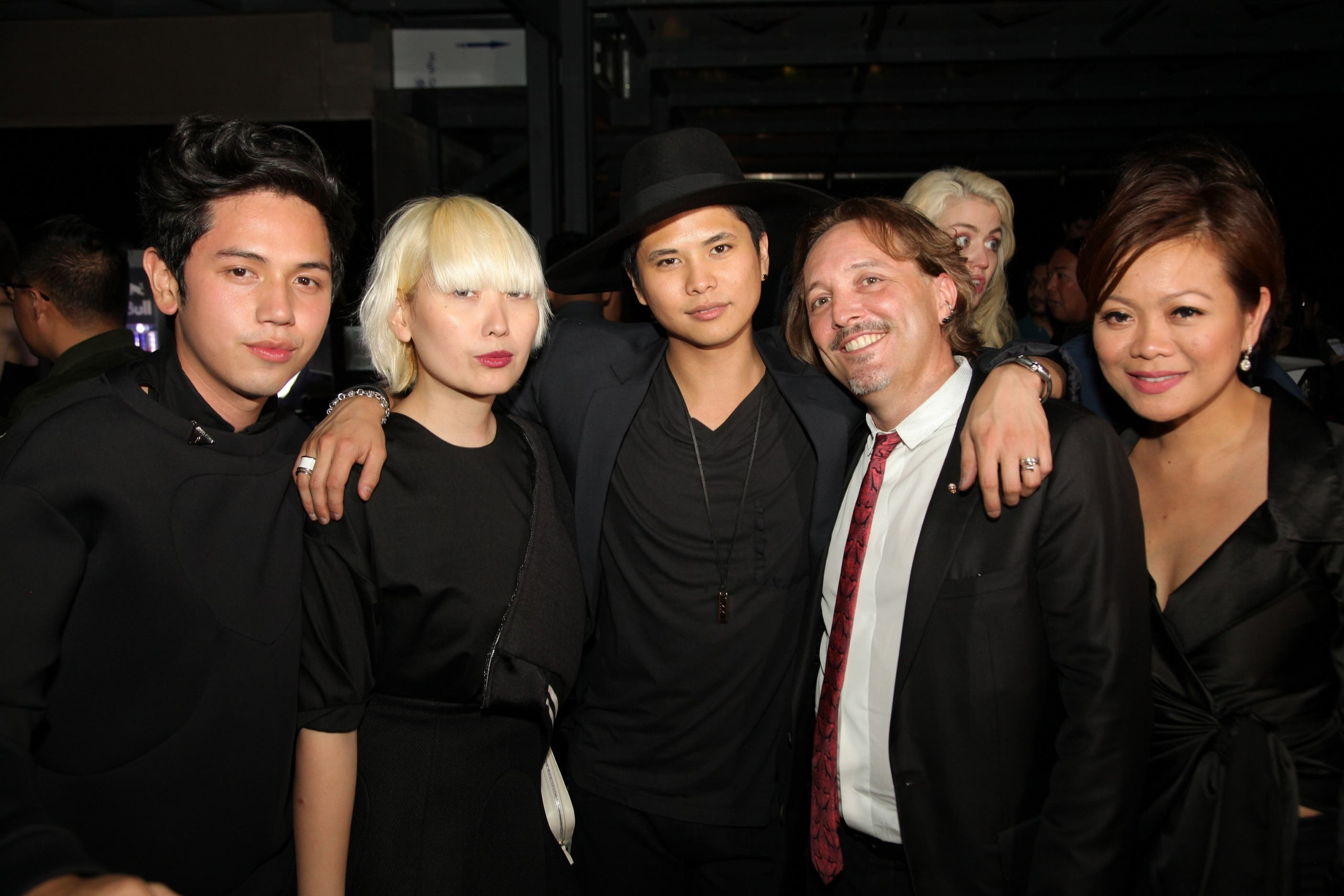 At East Jed Root Pioneer Talents Photographer BJ Pascual And Stylist Daryl Chang With George Inaki, Jed Root And Managing Director Au Mauricio