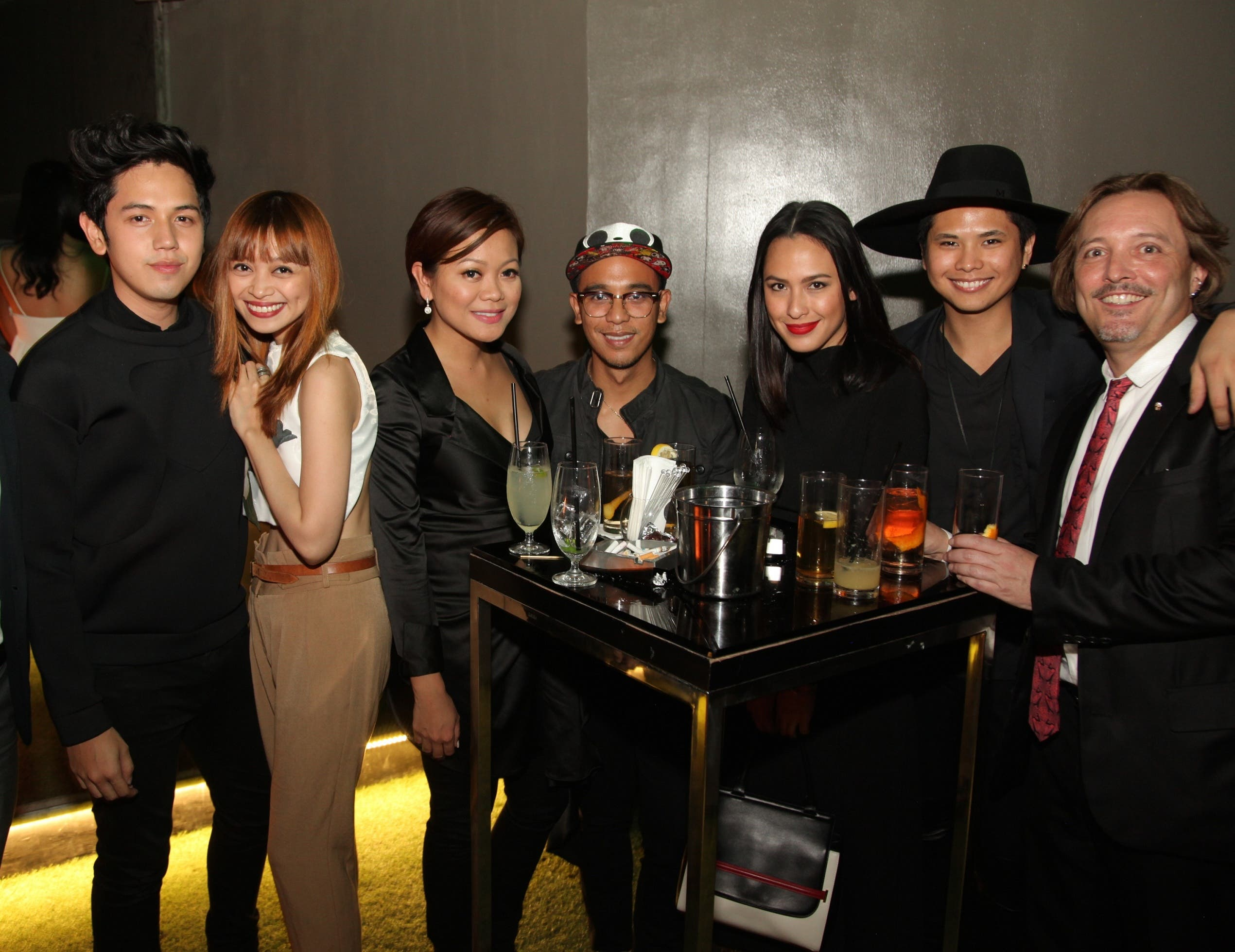 At East Jed Root Talents Photographers BJ Pascual, Shaira Luna, Mau Mauricio, And Stylist Angela Alarcon With Managing Director Au Mauricio, George Inaki And Jed Root