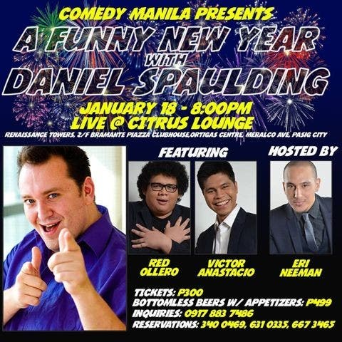 COMEDY MANILA Press Release (A Funny New Year with Daniel-Ryan Spaulding) layout