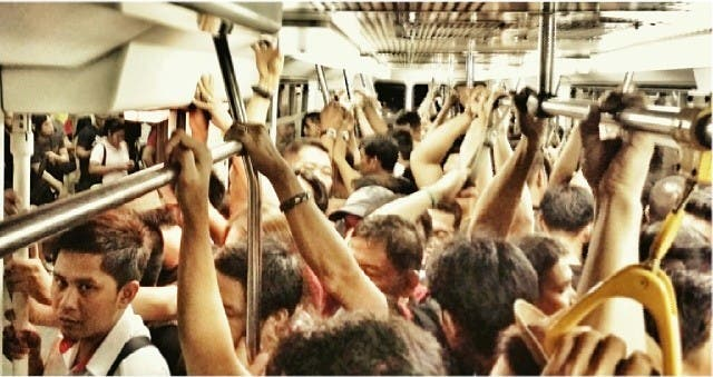 MRT Woes - thick crowds during rush hour