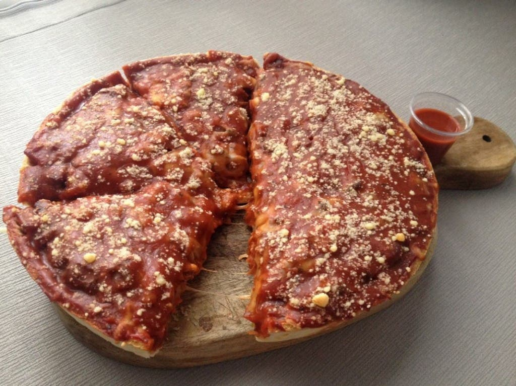 Luca's Corner Deep Dish Pizza Food Delivery