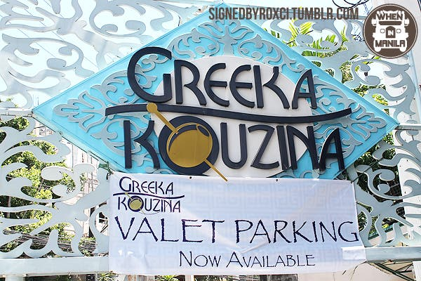 Stomach rumbling? Don't worry, Greeka Kouzina's San Juan branch features a valet service for those raring to eat!
