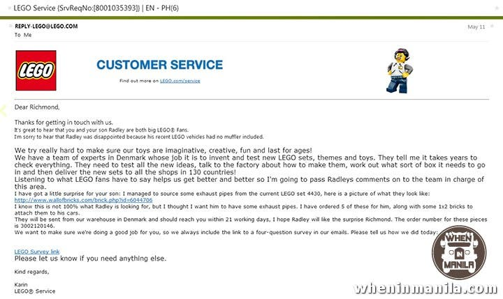 Good Guy LEGO: Toy Company's Customer Service At Its Best | When ...