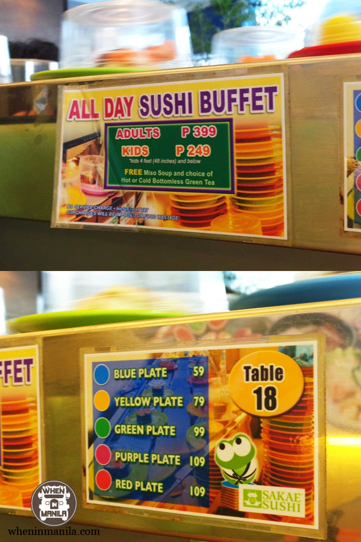 Sakae Sushi, An All-You-Can-Eat Conveyor-Belt Style Sushi Buffet!