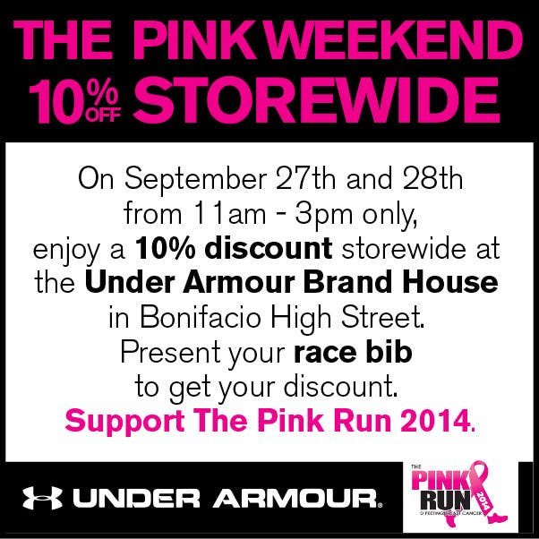 the pink run 2014 under armour