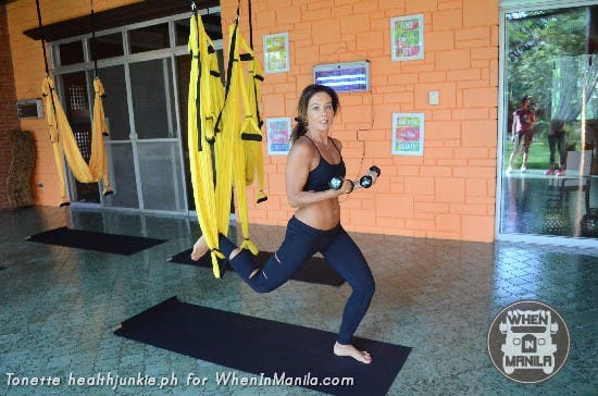 Full Body Workout with Aerial Swing Yoga Fitness5