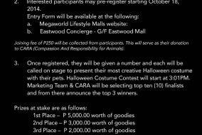 PETrified Halloween Costume Contest on Oct. 25 at Eastwood Mall