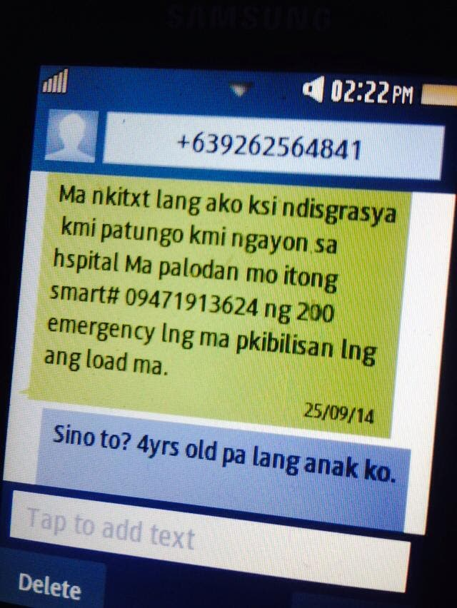 text scam targets mothers manila philippines wheninmanila