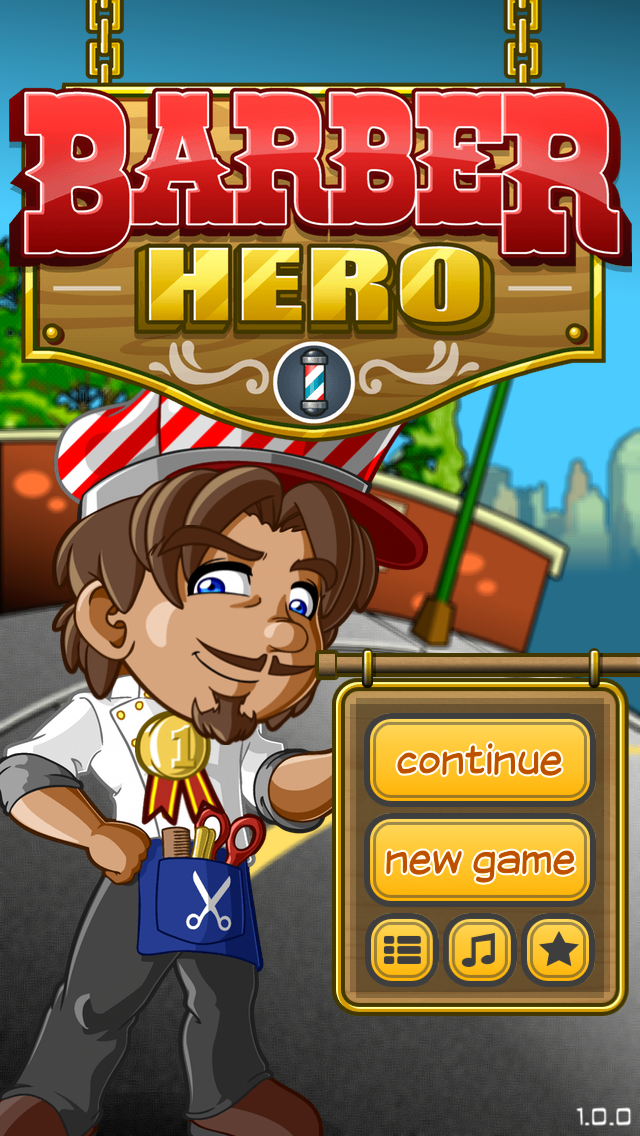 Cut, style, shampoo and colour your way to success with Barber Hero!