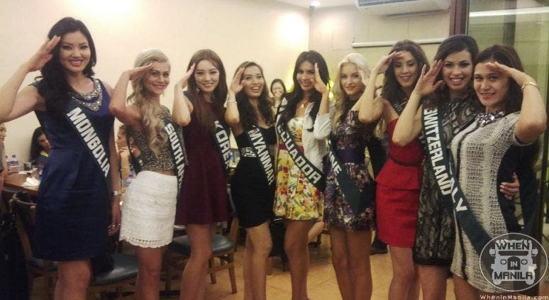 Ms. Earth Contestants Converge at The Aristocrat