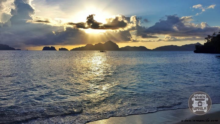 El Nido Palawan Sunset at 7 Commando Beach