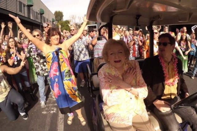 Betty White Birthday Flash Mob