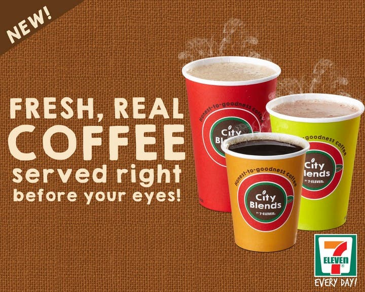 7-Eleven Launches Honest-to-Goodness Coffee, City Blends