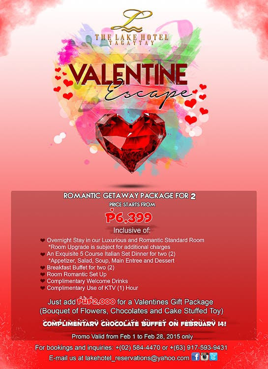 The Lake Hotel Tagaytay Valentines Promo