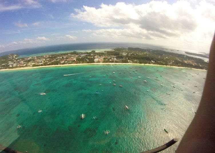 Boracay from the air: The best view of the island!