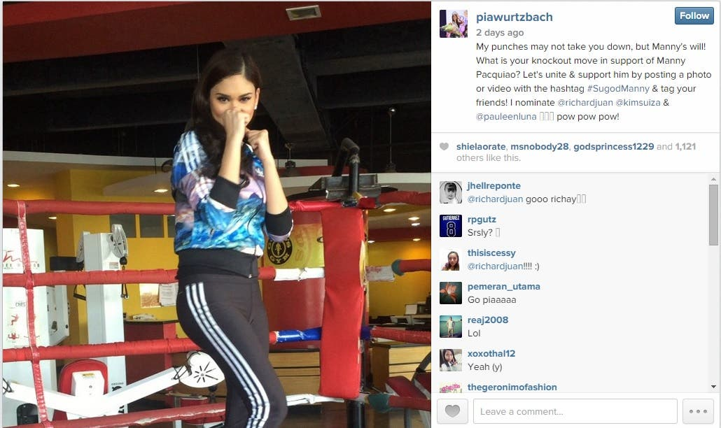 Sugod Manny Trends in Support of Mannys Big Fight Whats Your SugodManny Knockout Move Pia Wurtsbach