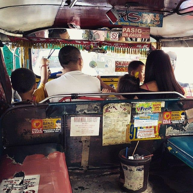 This Jeepney Driver Brings His Whole Family to Work