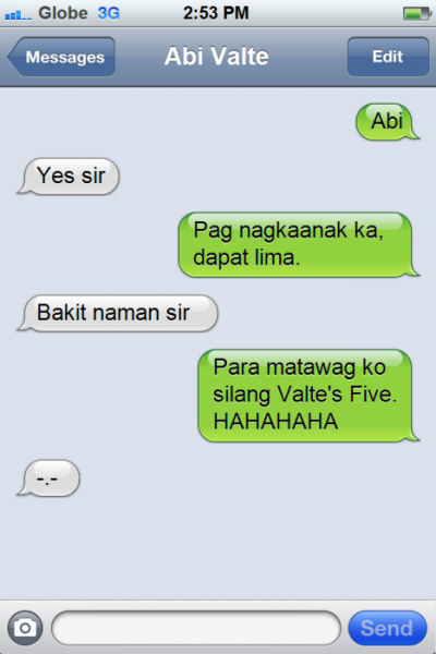 PNoy Text 1