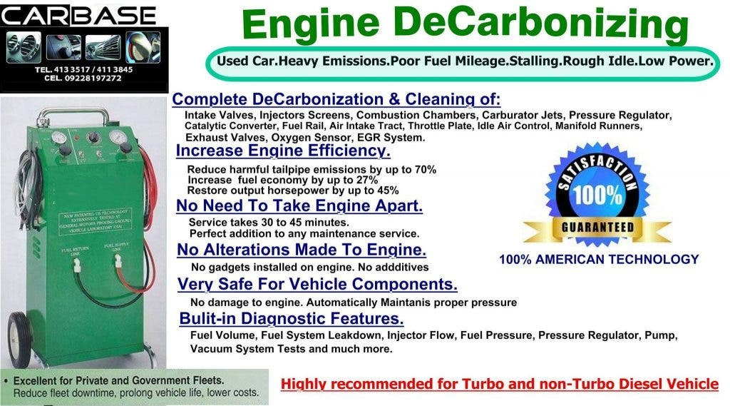 Engine DeCarbonizing: Carbase's Solution To Diesel Engine