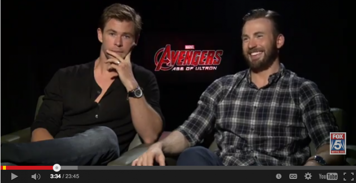 Chris Evans, Chris Hemsworth Pacquiao vs Mayweather