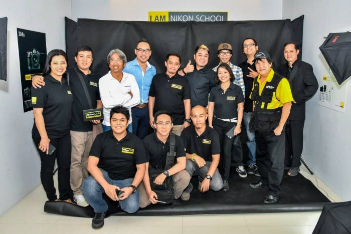 I AM NIKON SCHOOL. Nikon Club of the Philippines Officers take a pose together with the NIKON PROs at a newly launched NIKON SCHOOL.