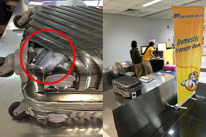 Passenger Complains About Airline's Response to Damaged Baggage