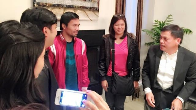 Recovering Jolo Revilla Visits Pacquiao in the US