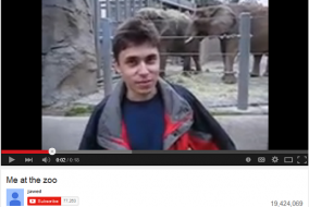 """Me At The Zoo"": First Video on YouTube Reaches 10-Year-Old Mark"