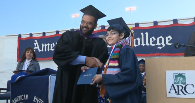 11-year-old boy graduates from college