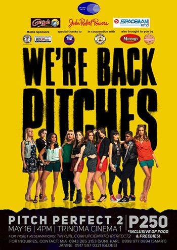 When in manila lifestyle travel philippine news and manila pitch perfect 2 special block screening with up ciem stopboris Choice Image
