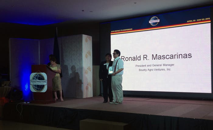 Mr. Ronald Mascariñas, President and General Manager of Bounty Agro Ventures, Inc.