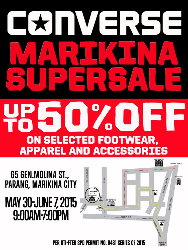 Converse Philippines Marikina Supersale 2015