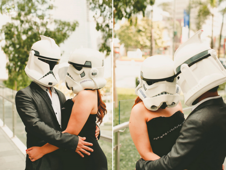 Engaged couple's Star Wars shoot 11