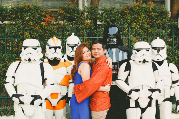 Engaged couple's Star Wars shoot 13