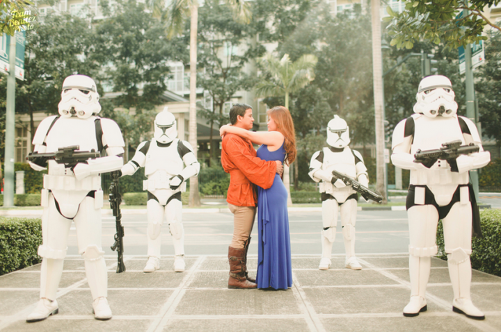 Engaged couple's Star Wars shoot 15