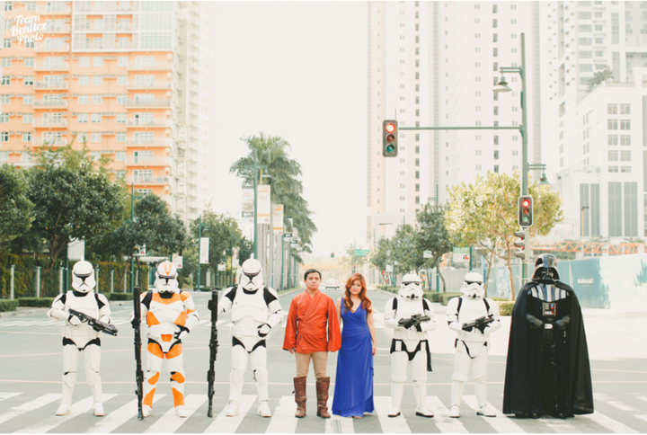 Engaged couple's Star Wars shoot 16