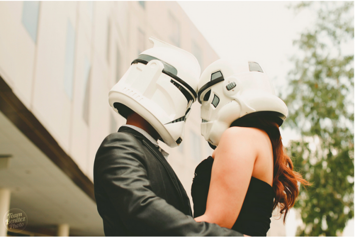 Engaged couple's Star Wars shoot 17
