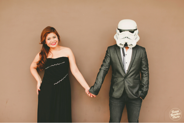 Engaged couple's Star Wars shoot 6