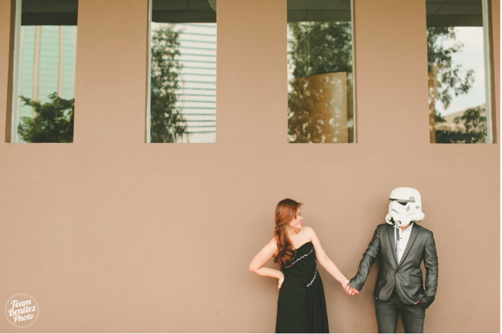 Engaged couple's Star Wars shoot 7
