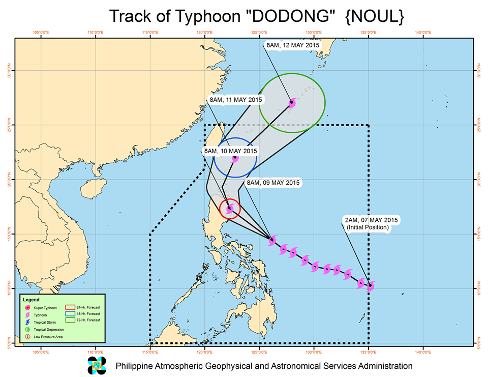 PAGASA Releases Areas Under Storm Signal for #DodongPH