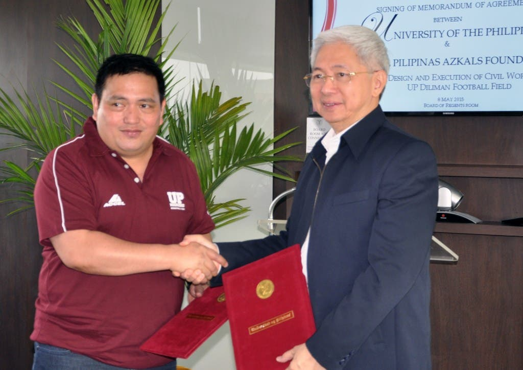 UP Diliman to Build 'UP-Azkals Football Field' 2