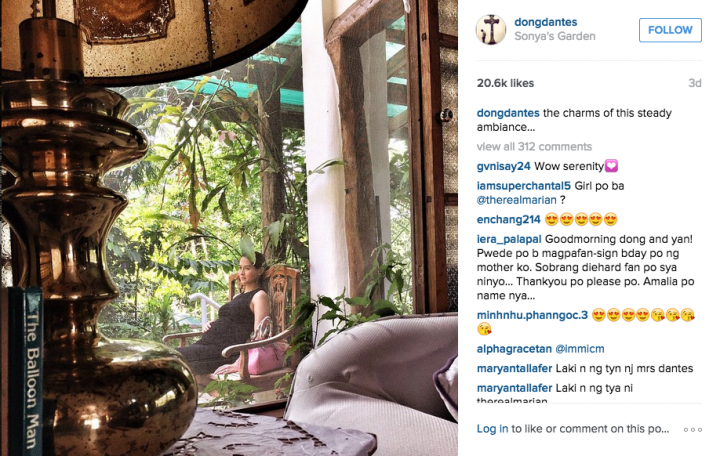 Dingdong posts pregnant Marian photo