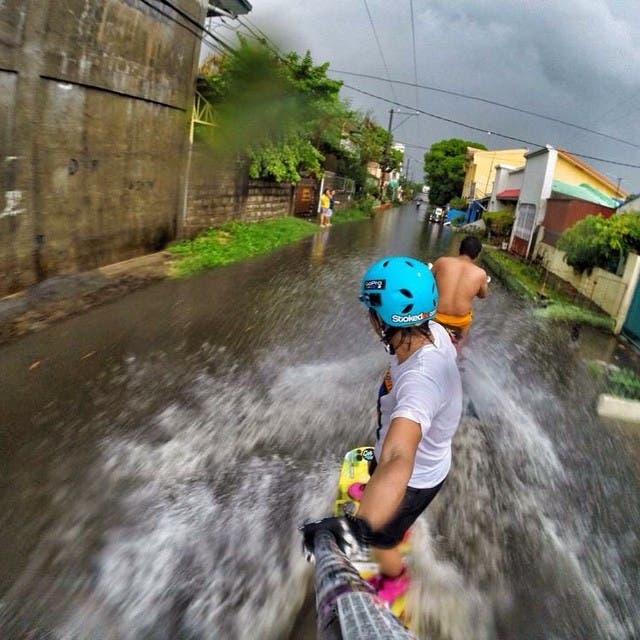 Have You Tried Wakeboarding... During a Flood