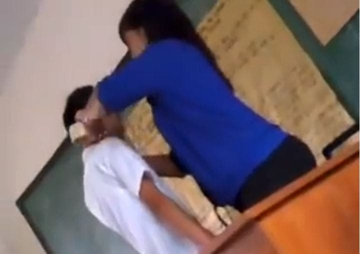 Schoolteacher Shuts Her Student's Mouth Using Packaging Tape
